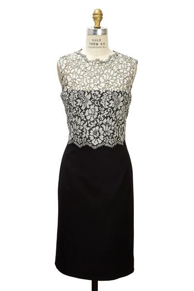 Valentino - Black Techno Tubino Dress