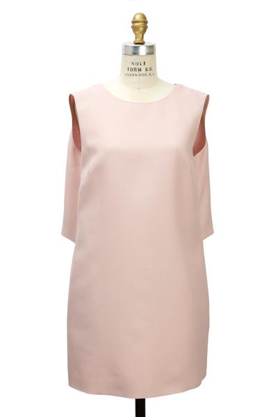 Valentino - Rose Silk & Wool Dress