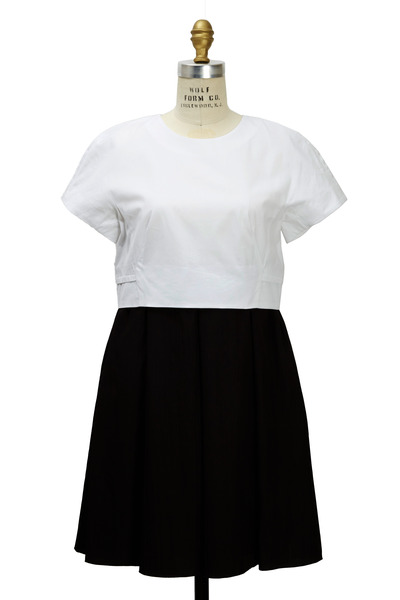 Proenza Schouler - Black & White Cotton Dress
