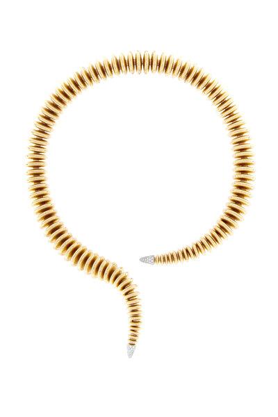 Mattia Cielo - Pink Gold Diamond Collar Necklace