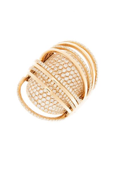 Mattia Cielo - 18K Pink Gold Moveable Diamond Ring