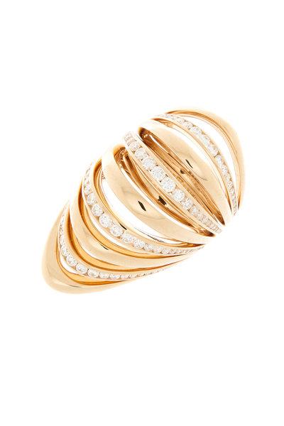 Mattia Cielo - 18K Pink Gold Diamond Cocktail Ring