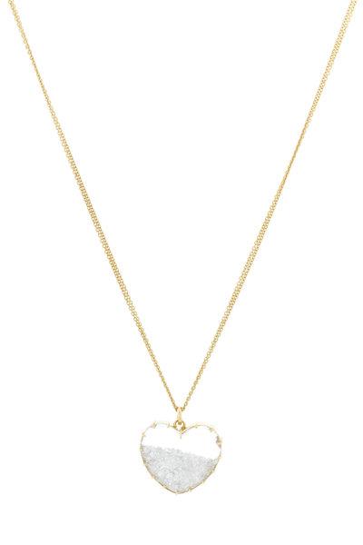 Renee Lewis - Yellow Gold White Diamond Heart Shake Necklace