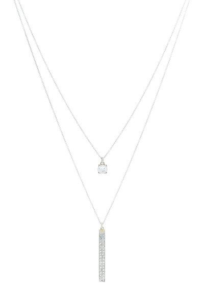 Renee Lewis - White Gold Antique Diamond Bar Necklace