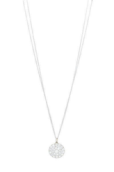 Renee Lewis - White Gold Antique Diamond Cluster Necklace