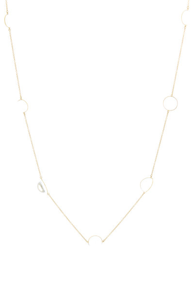 Renee Lewis - Yellow Gold Antique Quartz Crystal Necklace