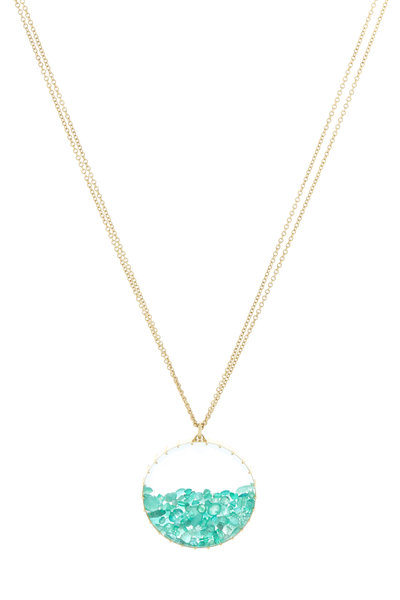 Renee Lewis - Yellow Gold Emerald Shake Necklace