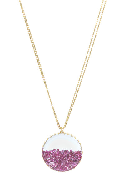 Renee Lewis - Yellow Gold Ruby Shake Necklace