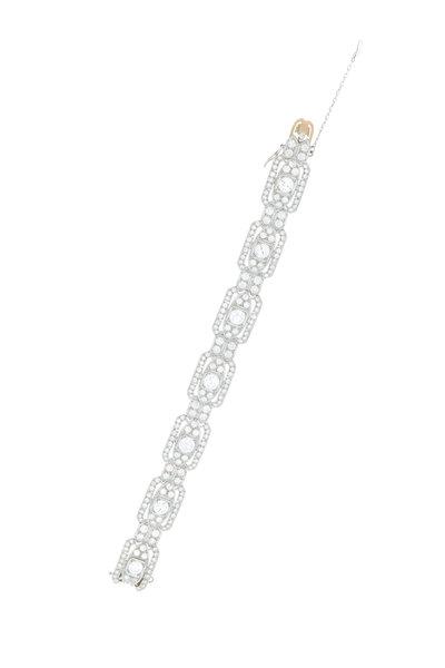 Renee Lewis - White Gold Antique Diamond Deco Bracelet
