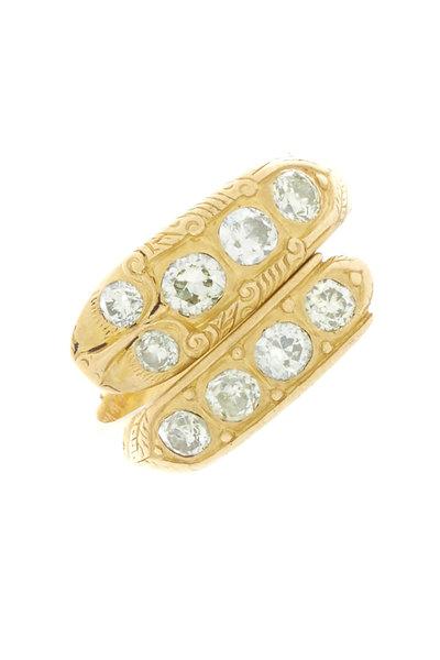 Renee Lewis - Yellow Gold Natural Diamond Snake Ring