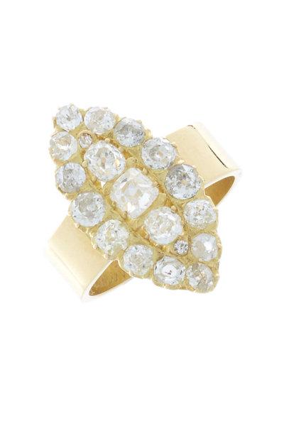 Renee Lewis - Yellow Gold Diamond Marquise Ring