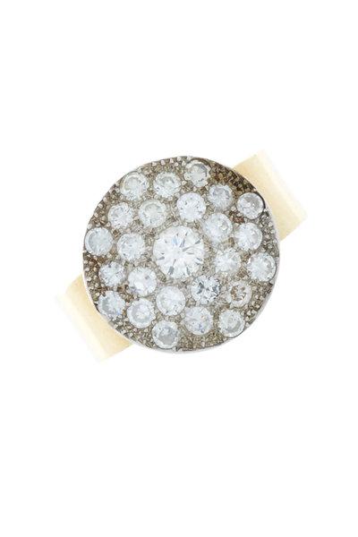Renee Lewis - Yellow Gold Round Antique Diamond Ring