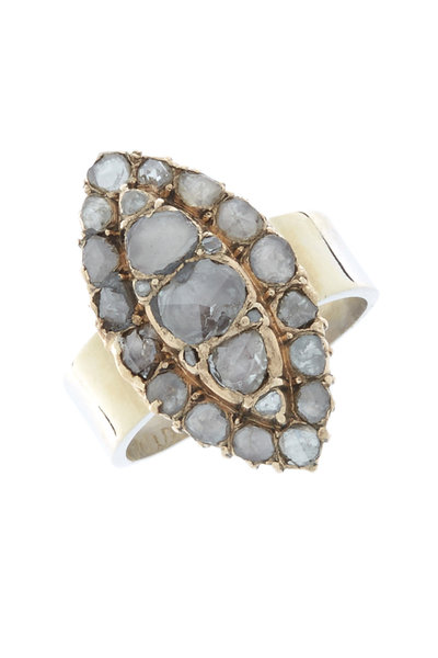 Renee Lewis - Gold & Silver Antique Diamond Marquise Ring
