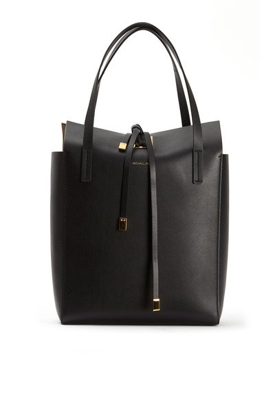 Michael Kors Collection - Miranda Voyager Black Leather Tote