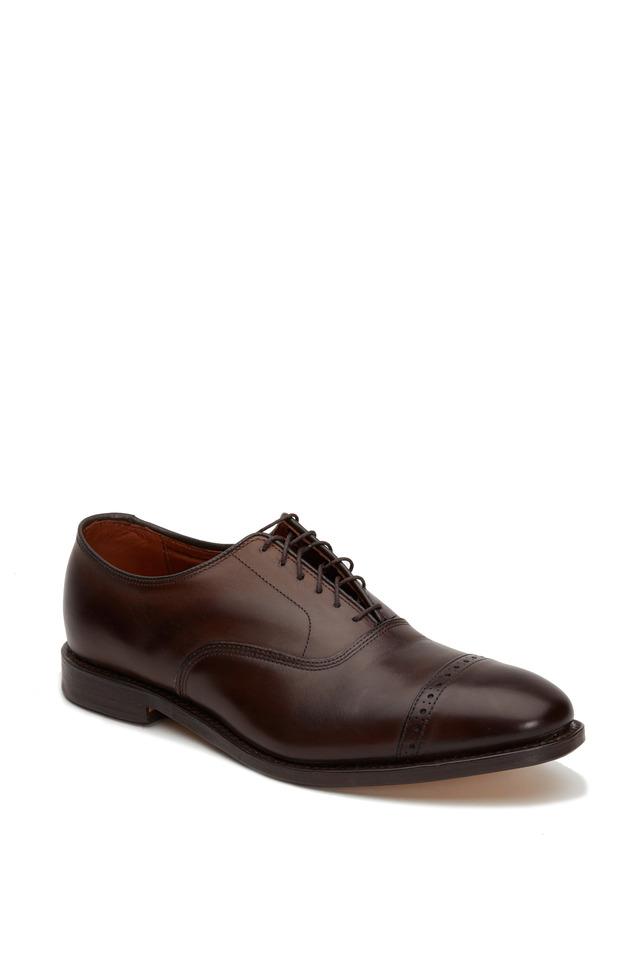 Fifth Avenue Dark Brown Leather Cap-Toe Oxford