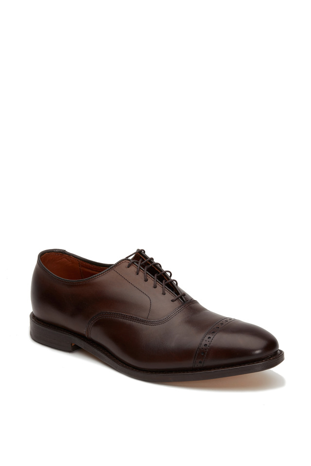 Fifth Avenue Dark Brown Leather Cap-Toe Oxford