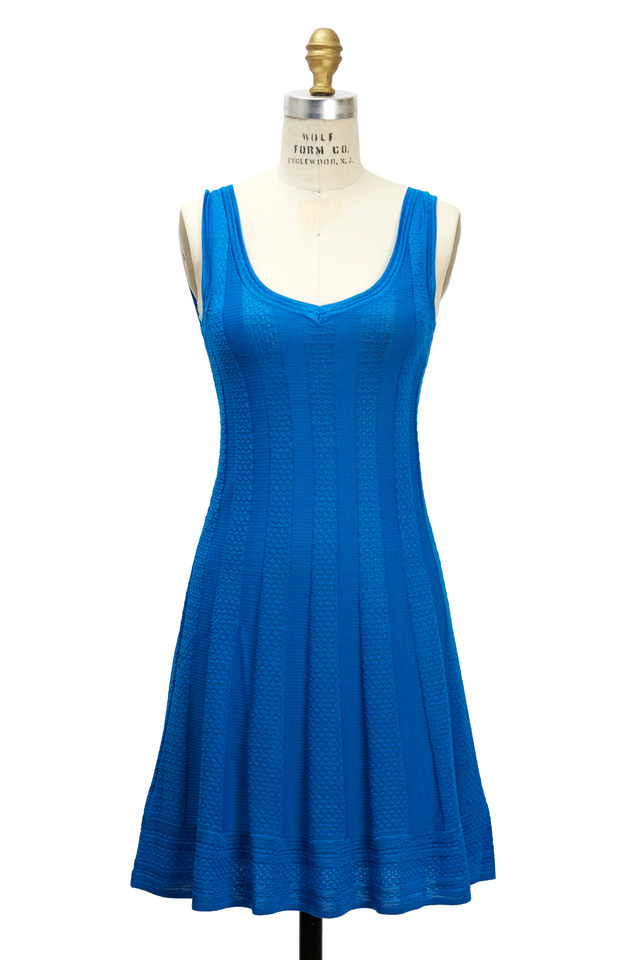French Blue Dress