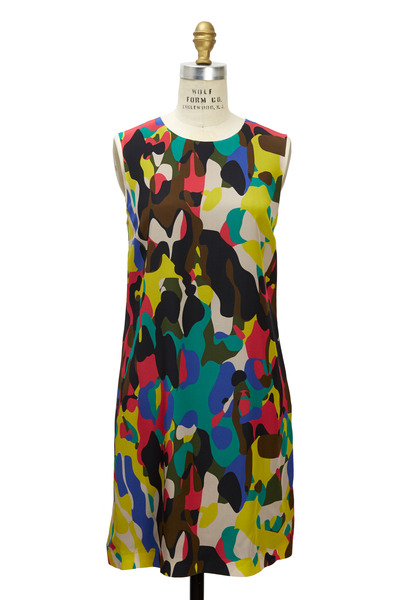 M Missoni - Camo Multicolor Silk Shift