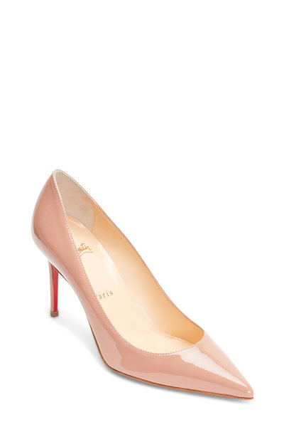 Christian Louboutin - Decollete Nude Patent Leather Pump, 85mm
