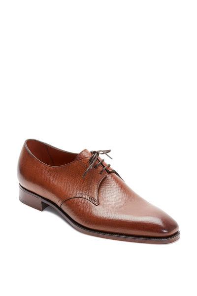 Gaziano & Girling - Derwent Chestnut Grained Leather Derby Shoe