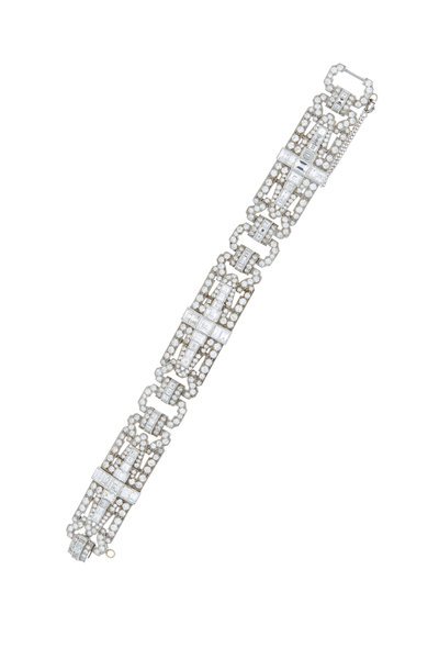 Louis Newman - White Diamond Estate Bracelet