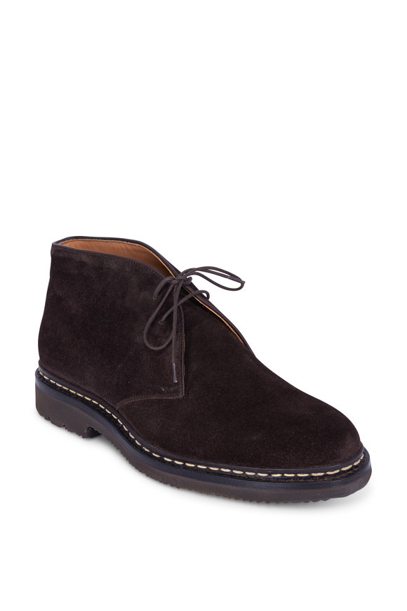 Heschung Genet Oak Suede Lace-Up Boot