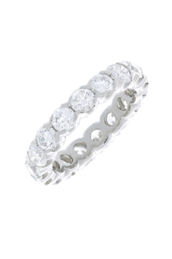 Oscar Heyman Platinum Diamond Fishtail Guard Ring