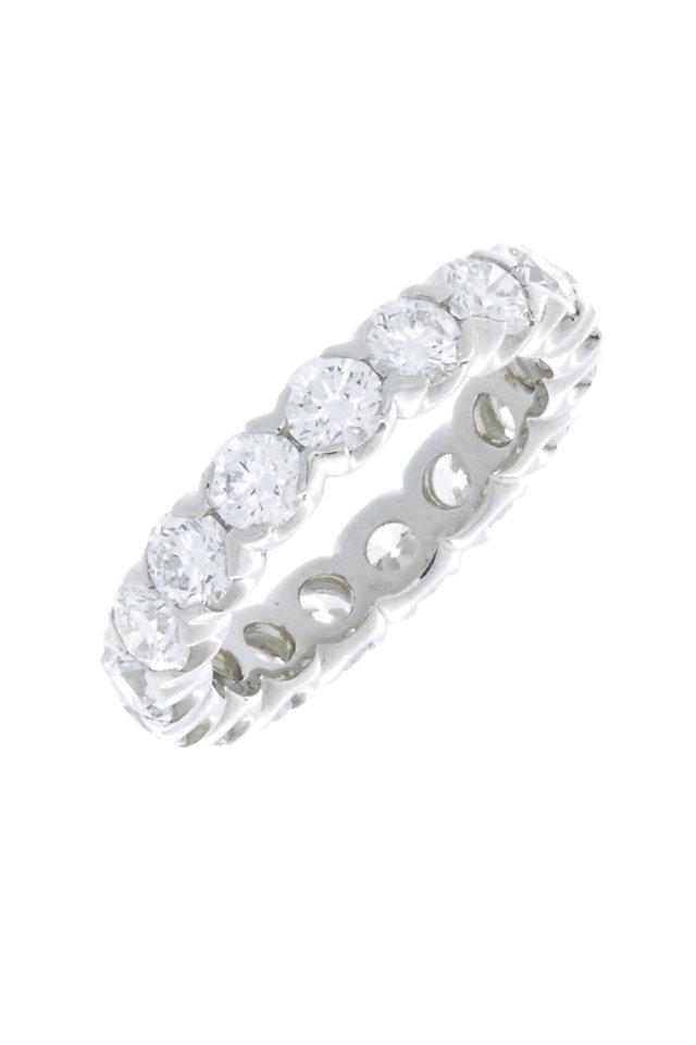 Platinum Diamond Fishtail Guard Ring