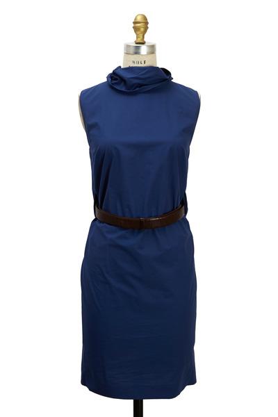 Brunello Cucinelli - Royal Blue Cotton Dress
