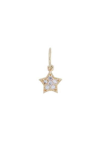 Emily & Ashley - Yellow Gold Diamond Star Charm Pendant