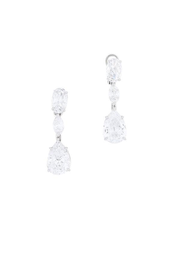 Louis Newman Platinum Diamond Drop Earrings