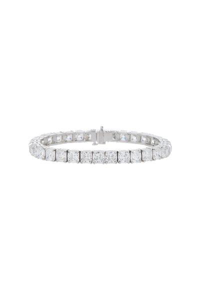 Louis Newman - Platinum Diamond Bracelet