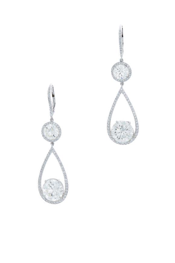 Louis Newman Diamond Drop Earrings