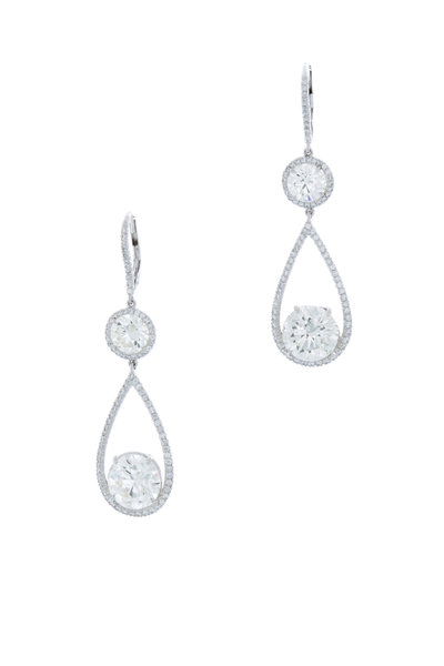Louis Newman - Diamond Drop Earrings