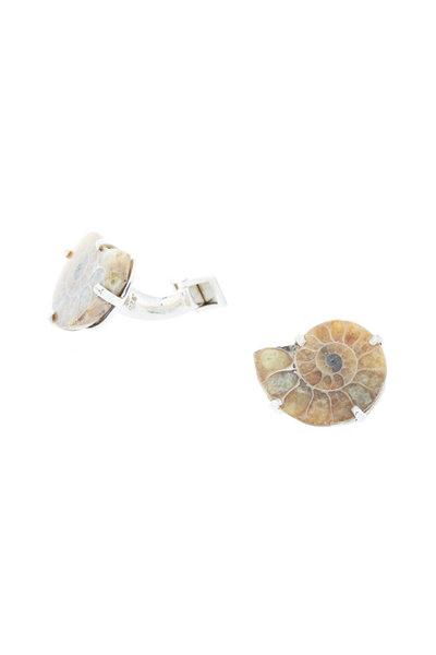 Spivey - Sterling Silver Ammonite Cuff Links