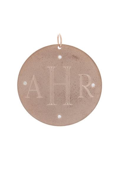 Emily & Ashley - Rose Gold Diamond Monogram Charm Disc