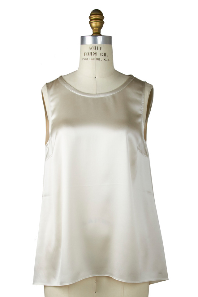 Vanilla Silk Sleeveless Reversible Tank