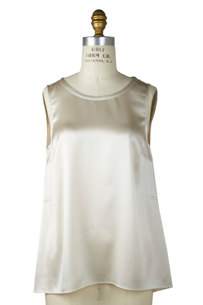 Brunello Cucinelli - Vanilla Silk Sleeveless Reversible Tank