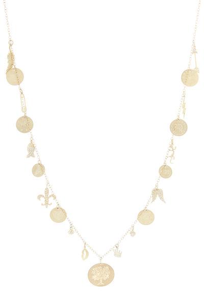 Emily & Ashley - Yellow Gold Charm Necklace