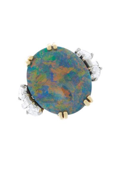 Oscar Heyman - Gold & Platinum Opal Diamond Ring