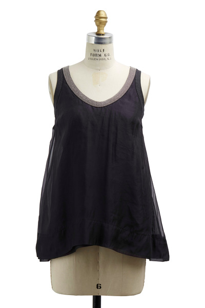 Brunello Cucinelli - Volcano Silk Monili Tank Top