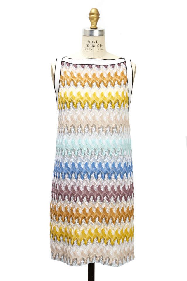 Multicolored Sleeveless A-Line Shift Dress
