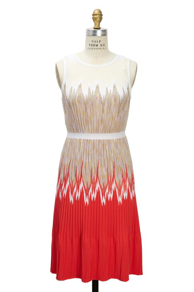 Red Tan & Cream Dress