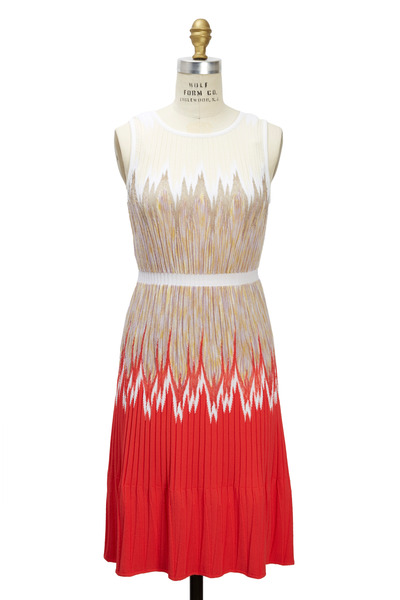 Missoni - Red Tan & Cream Dress