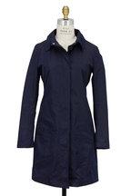 Tuscany & Co - Navy Blue Rain Top Coat
