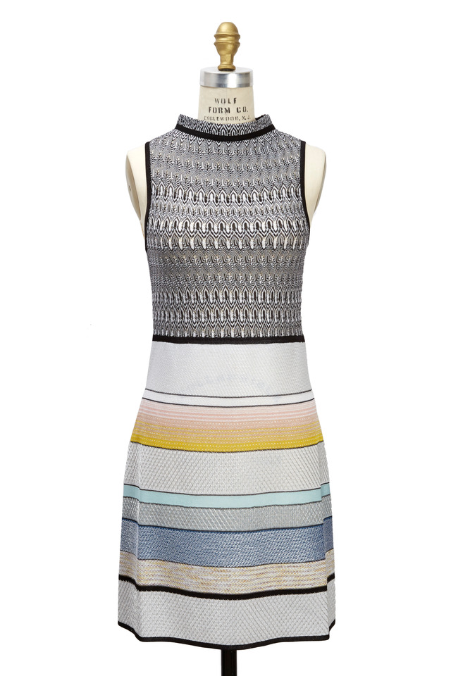 Keyhole Back Light Multicolored Sleeveless Dress