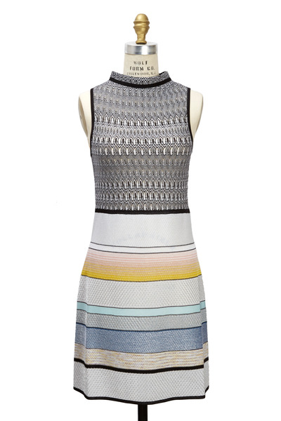 Missoni - Keyhole Back Light Multicolored Sleeveless Dress