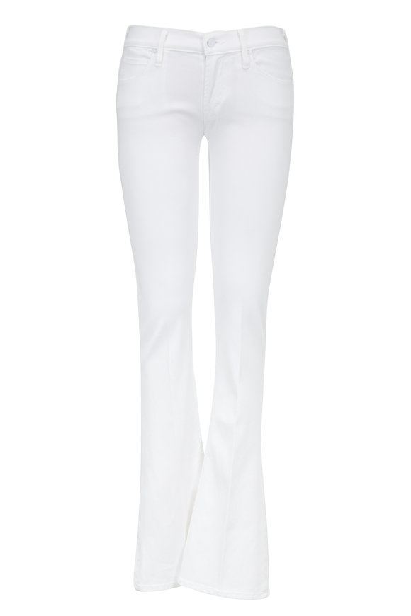 Mother Denim Runaway White Skinny Flare Jeans