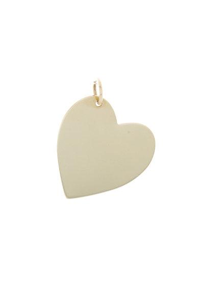 Emily & Ashley - Yellow Gold Heart Charm Pendant