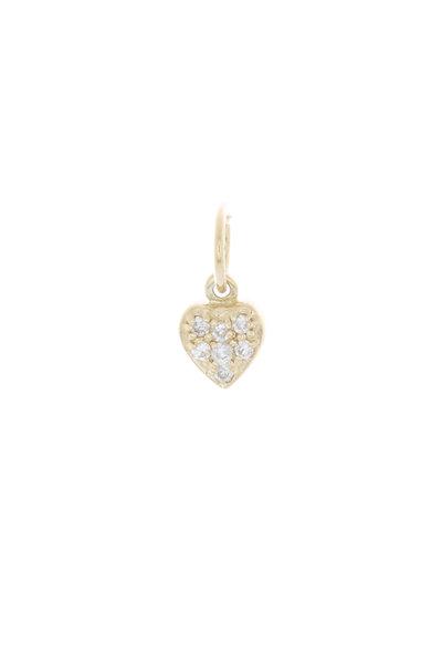 Emily & Ashley - Yellow Gold Diamond Heart Charm Pendant